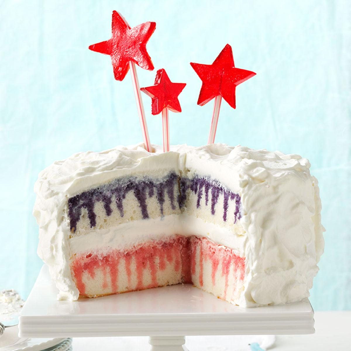 Red White Amp Blueberry Poke Cake Recipe