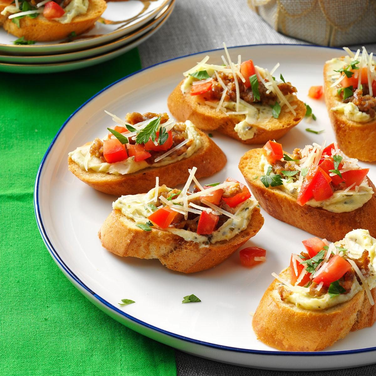 Italian Sausage Bruschetta Recipe Taste Of Home