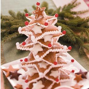 Christmas Tree With Gingerbread And Peppermint