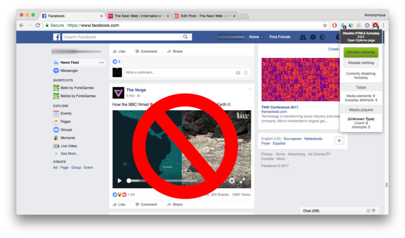This Chrome extension blocks audio and video autoplay from Facebook (and everywhere else) — Nwo Report