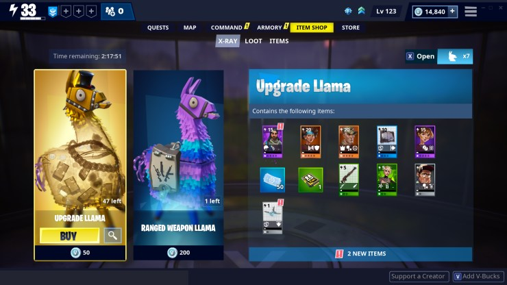 Fortnite llamas botín 1000 monedas v demanda epic games