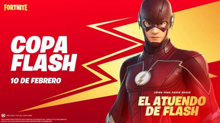 Copa Flash atuendo gratis fortnite
