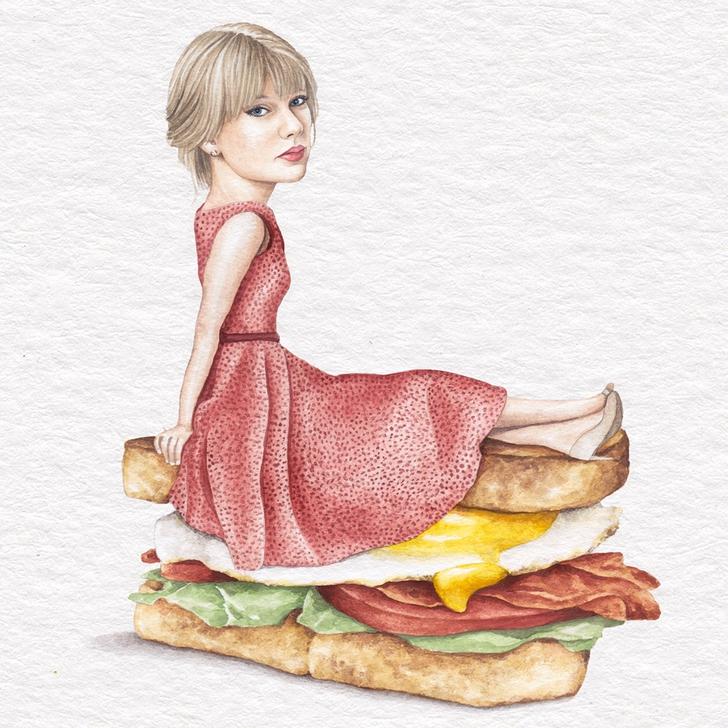 19 1 - Artista abre el apetito con los famosos posando sobre deliciosos sándwiches