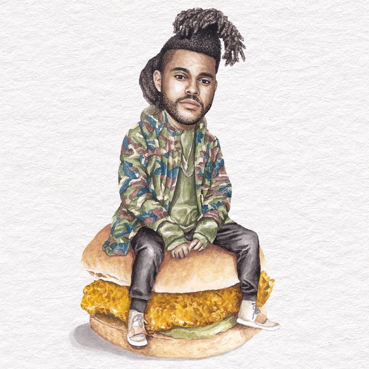 29 - Artista abre el apetito con los famosos posando sobre deliciosos sándwiches