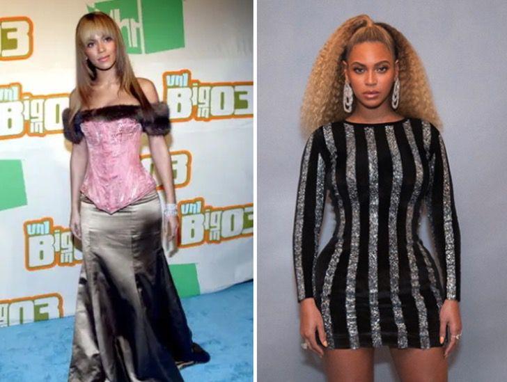 gl9 - 22 impactantes cambios de los famosos antes y después del éxito. Rihanna derrocha elegancia
