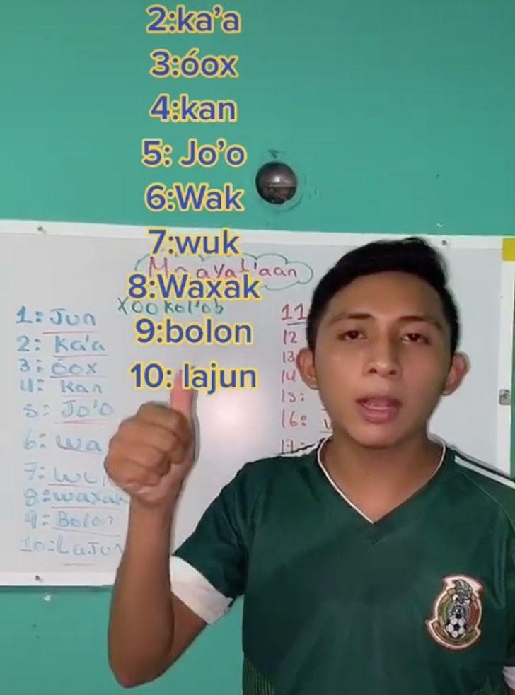 maya mexico idioma joven tiktok0003 - Mexicano es popular en Tik Tok por enseñar el idioma maya. No deja morir la lengua de sus ancestros