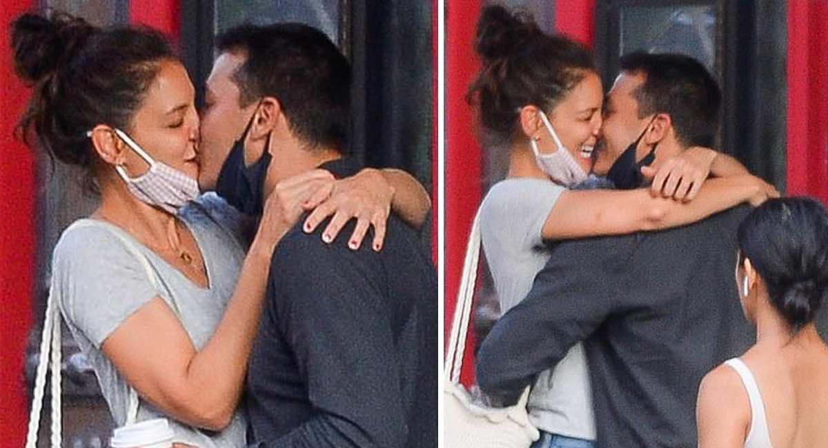 Captan a Katie Holmes besando apasionadamente a su nuevo novio. No se  despegaban el uno del otro | Upsocl