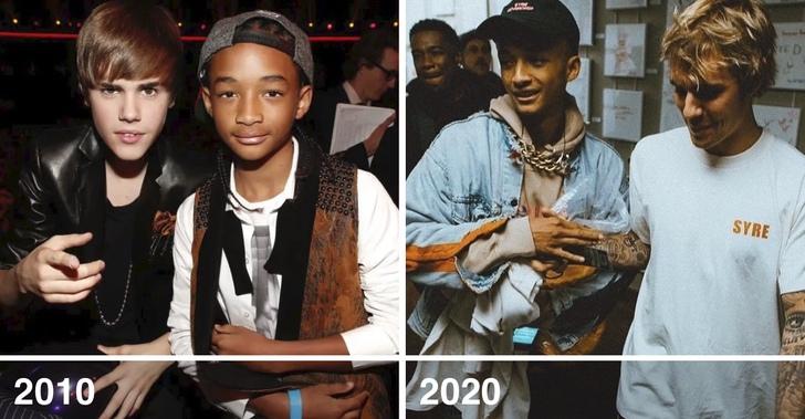 8 29 - Así lucían y así lucen ahora estos 20 amigos famosos. Rihanna y Cara siguen combinando sus atuendos