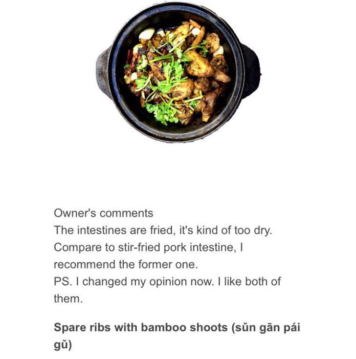 Captura de Pantalla 2021 01 25 a las 14.39.39 - Dueño escribe reseñas y recomienda no comer ciertos platos de su restaurante. Valoran su honestidad