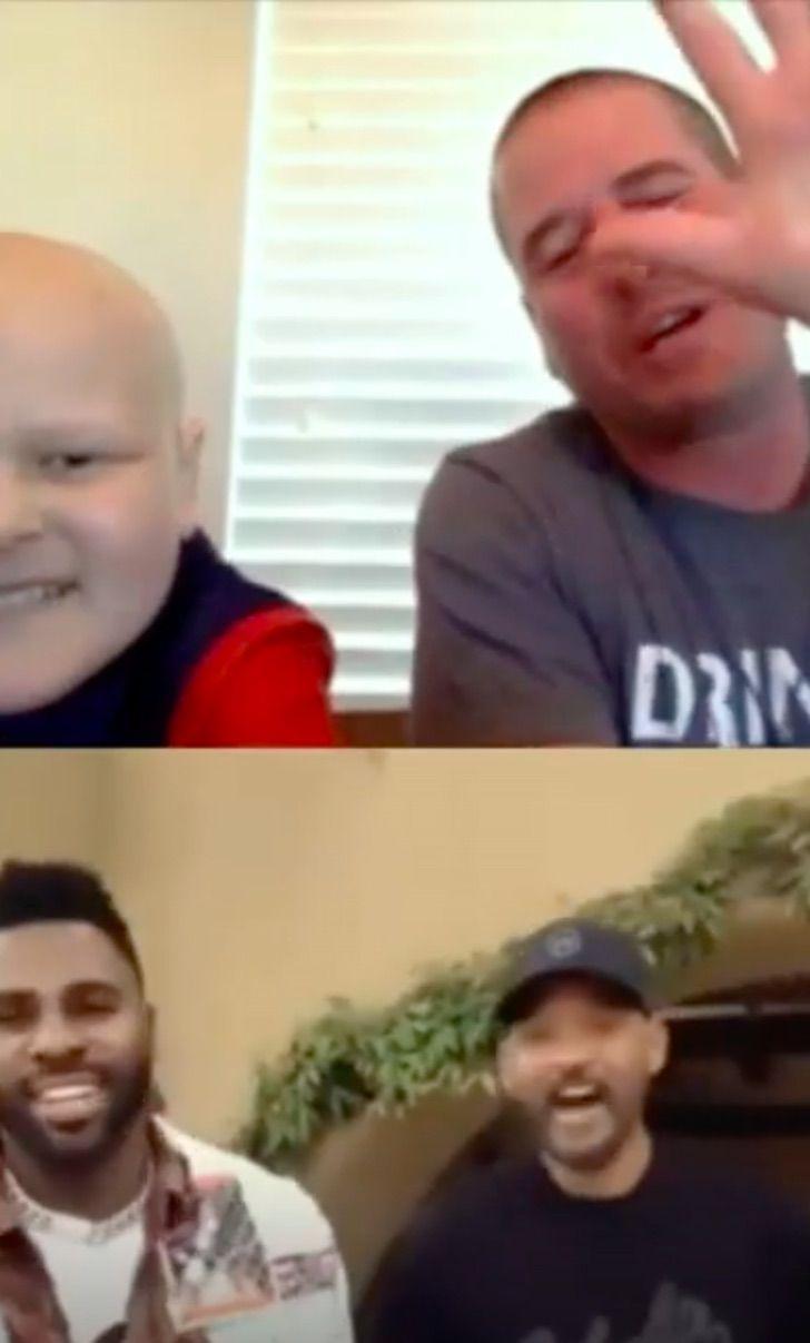 will smith navidad0008 - Will Smith se aseguró que un niño con cáncer tuviera su mejor Navidad: le regaló un Playstation 5
