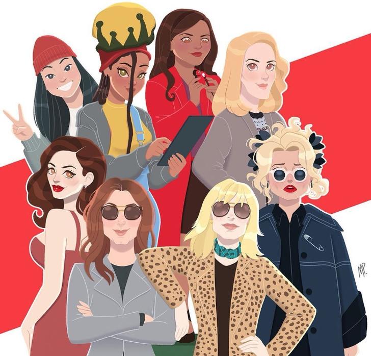 3 34 - Artista convierte a 10 famosos en idénticas caricaturas. Sandra Bullock tiene su misma expresión