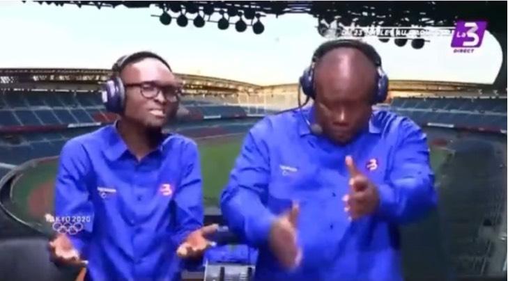 Captura de Pantalla 2021 07 29 a las 17.38.19 - Comentarista marfileño celebra con bailecitos el pase a cuartos de su selección de fútbol. Hay ritmo
