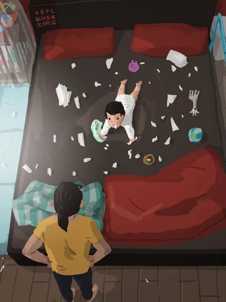 11 55 - 20 ilustraciones que muestran cómo es la vida de un papá soltero. Si mamá puede, papá también