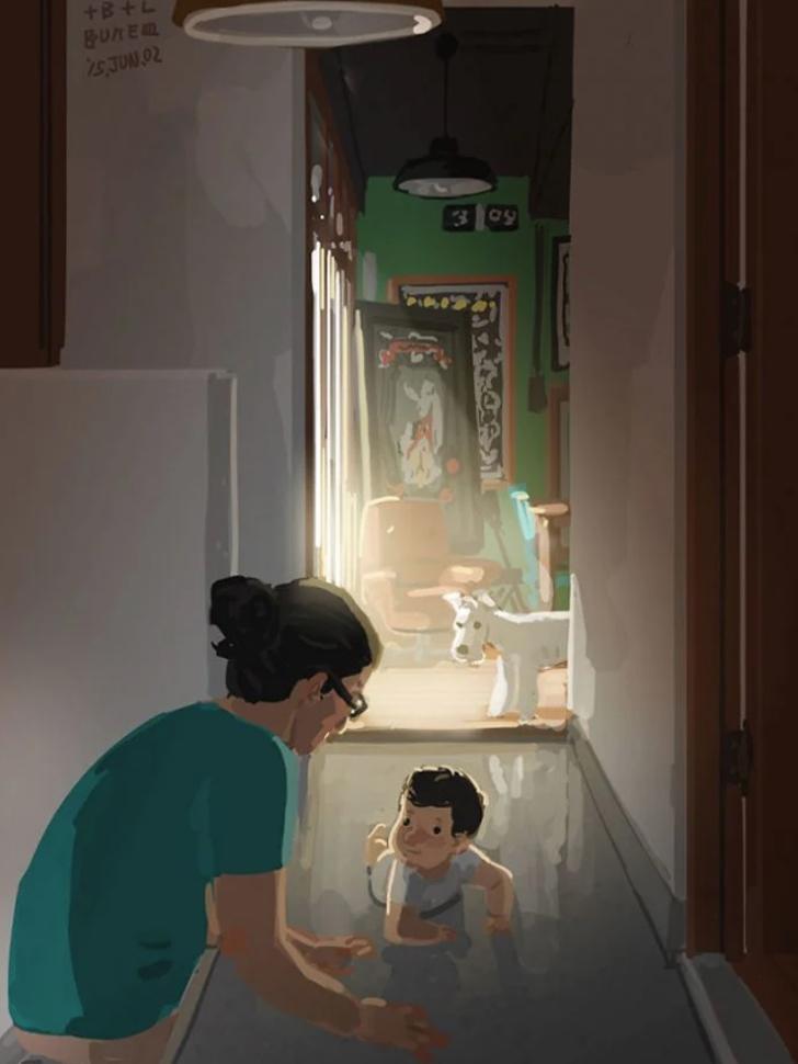 13 47 - 20 ilustraciones que muestran cómo es la vida de un papá soltero. Si mamá puede, papá también