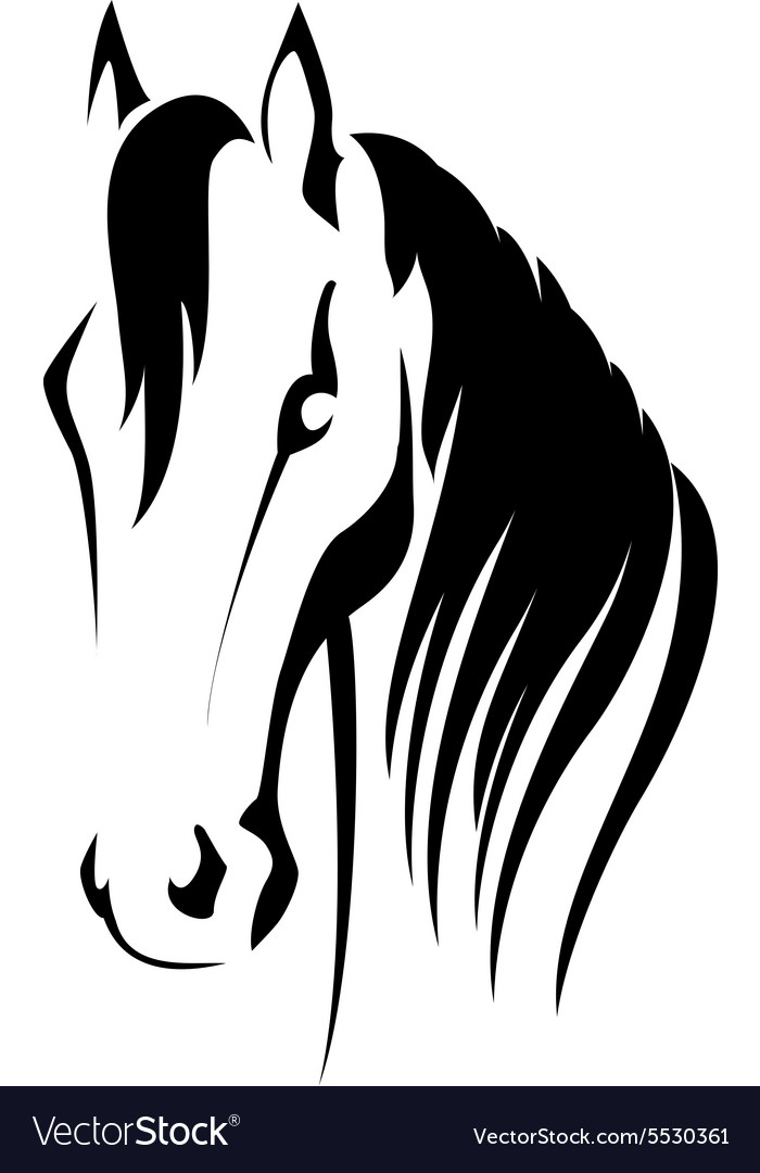 Silhouette Of A Horse Head Royalty Free Vector Image