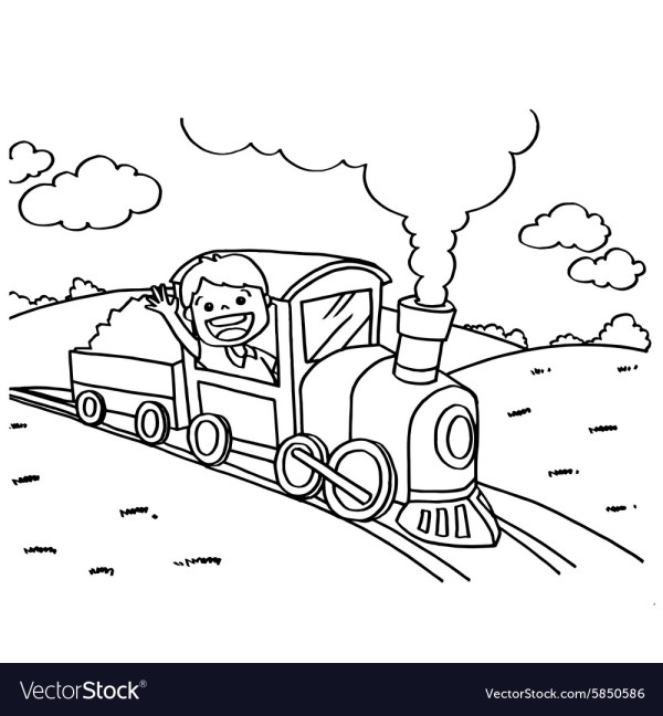 train coloring pages # 33