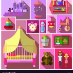 Girls Bedroom Furniture Sets Royalty Free Vector Image