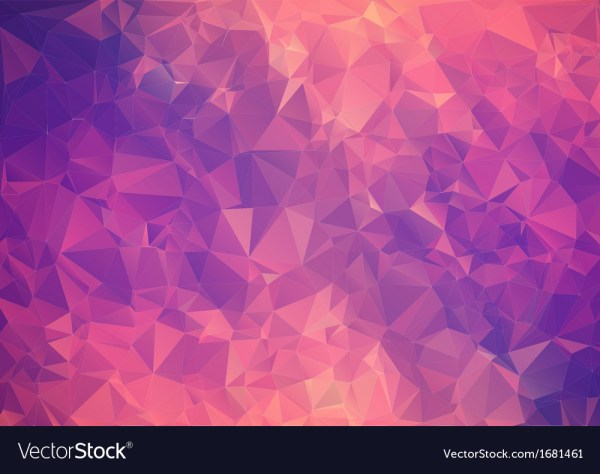 Purple pink abstract background polygon Royalty Free Vector
