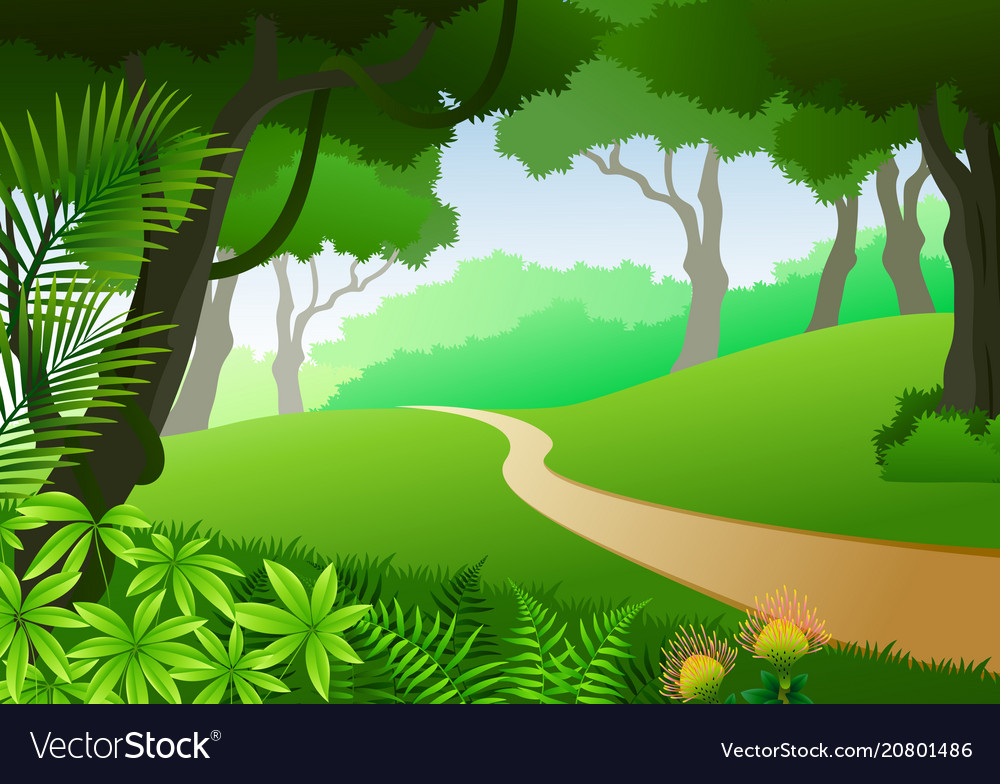 Your tropical forest background stock images are ready. Card With Tropical Forest Background Royalty Free Vector