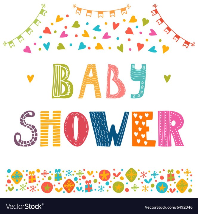 Baby Shower Invitation Template Cute Postcard With