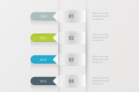 Timeline template green blue gray color Royalty Free Vector Timeline template green blue gray color vector image
