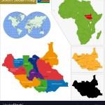 South Sudan Map Royalty Free Vector Image Vectorstock