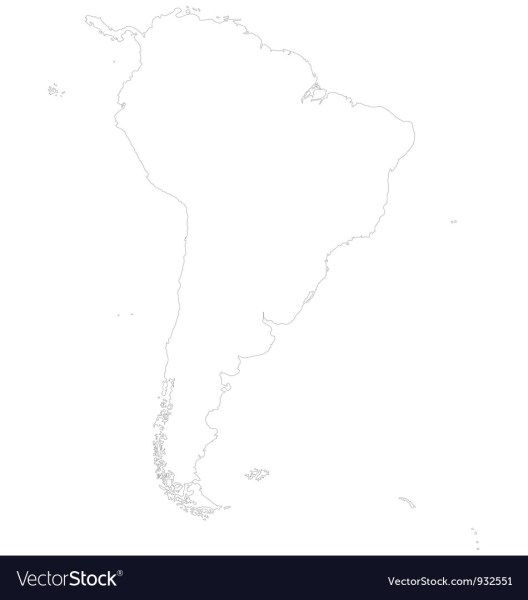 Outline map of South America Royalty Free Vector Image Outline map of South America vector image