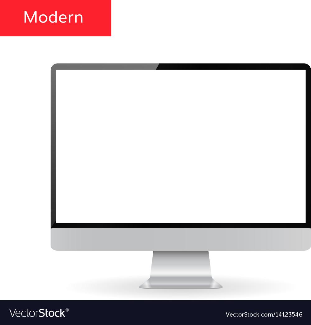 Monitor Mock Up Royalty Free Vector Image Vectorstock