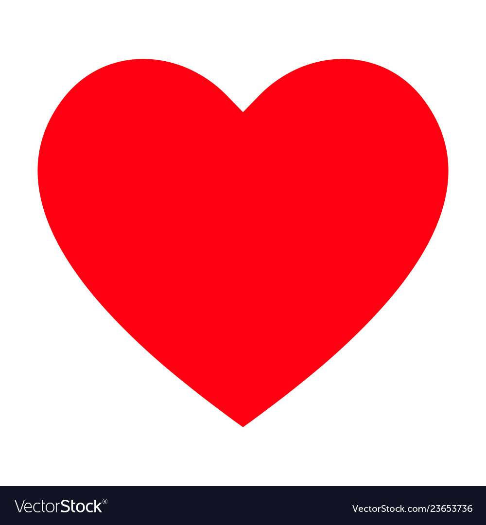 Download Red heart icon love icon Royalty Free Vector Image