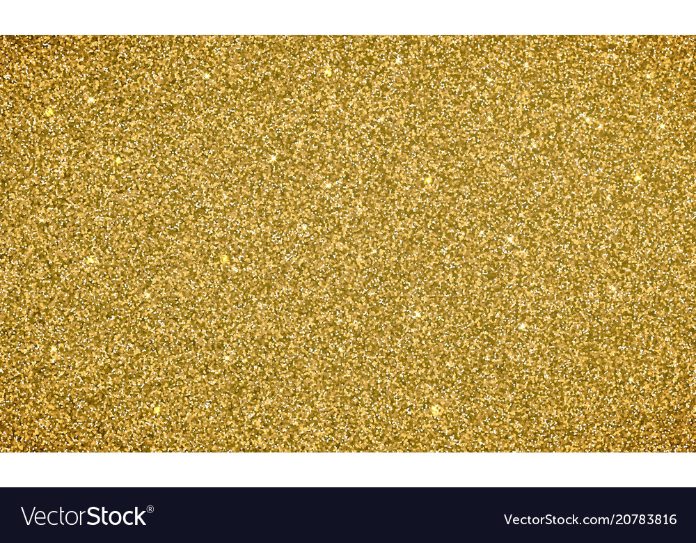 Gold Glitter Background Texture Glittery Vector Image