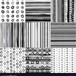 Set Black And White Doodle Patterns Royalty Free Vector