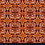 Red Italian Ceramic Tile Seamless Pattern Vector Image