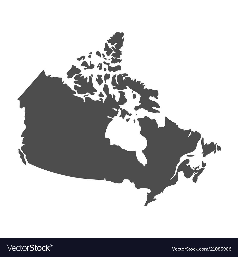 Blank Similar Canada Map Isolated On White Backgro