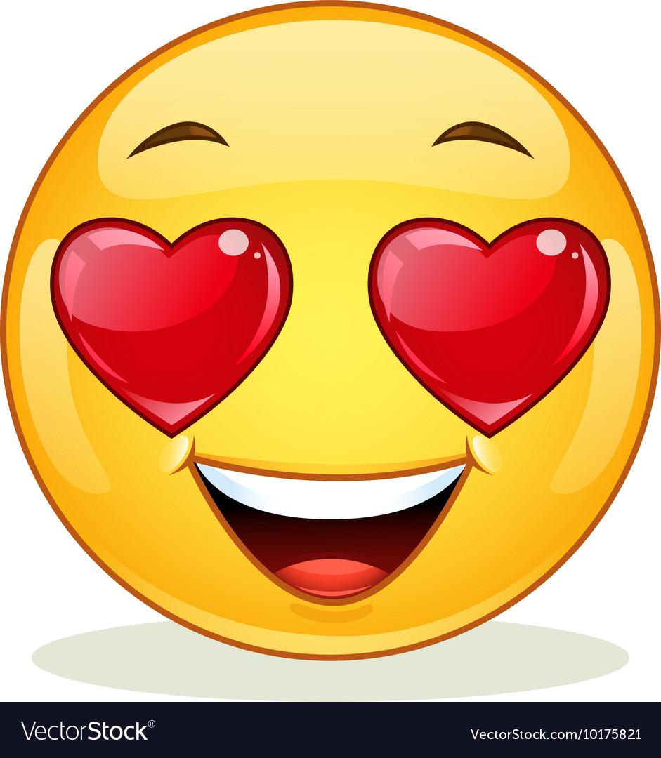 Download In love emoticon Royalty Free Vector Image - VectorStock