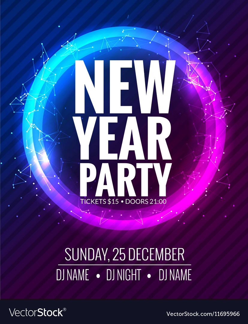 New year party and Christmas party poster template New year party and Christmas party poster template vector image