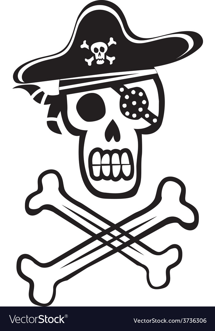 Pirate Skull And Crossbones Royalty Free Vector Image