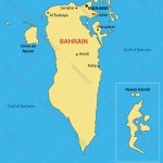 Kingdom Of Bahrain Map Royalty Free Vector Image