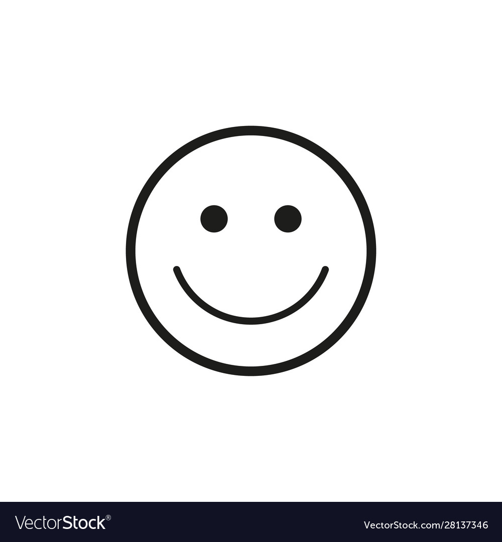 Smiley Face Icon Isolated Royalty Free Vector Image