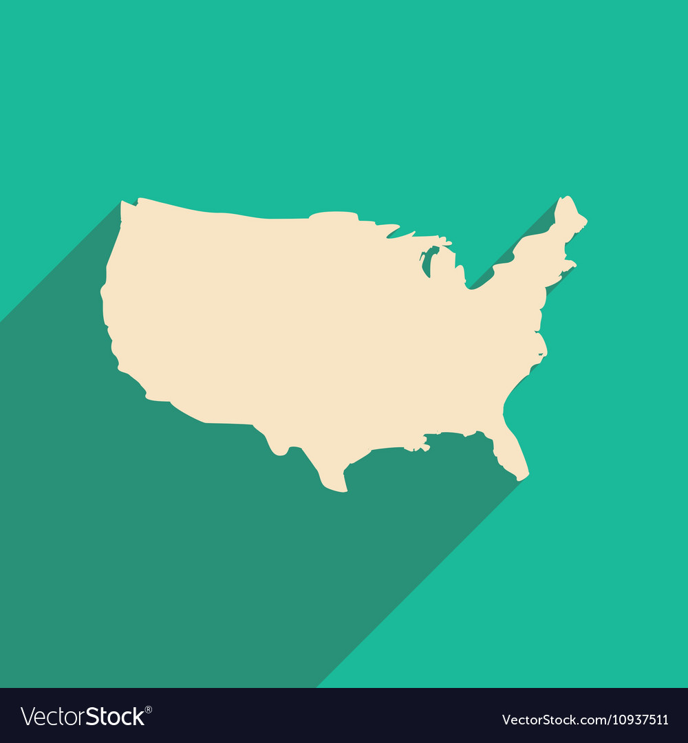 Find out as you try to name these famous buildings, monuments and other sites. Flat Icon With Long Shadow Map America Royalty Free Vector