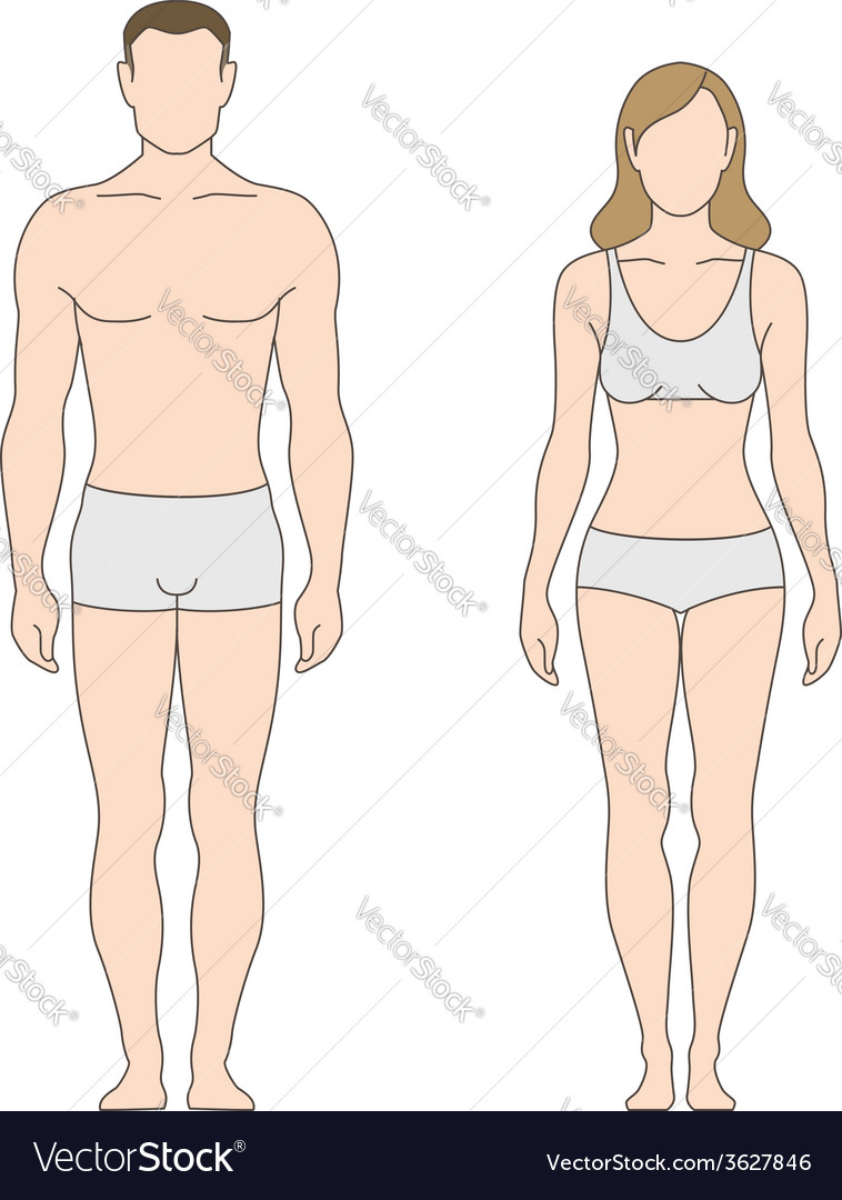 Figure Man Woman Vector Image