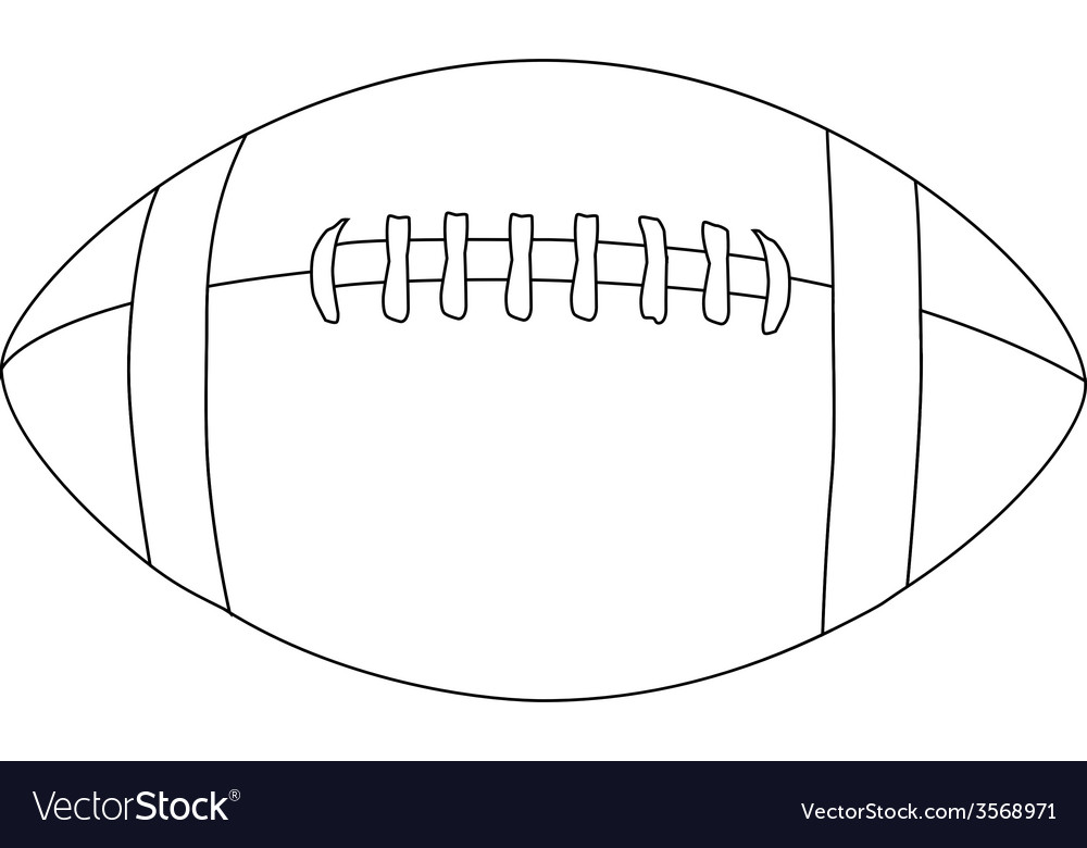 Download free american football vectors and other types of american football graphics and clipart at freevector.com! American Football Ball Outline Royalty Free Vector Image