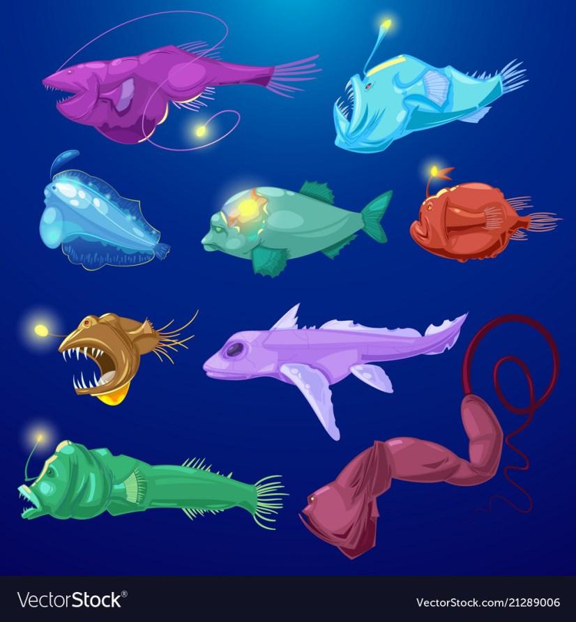 Angler fish seafish predator character