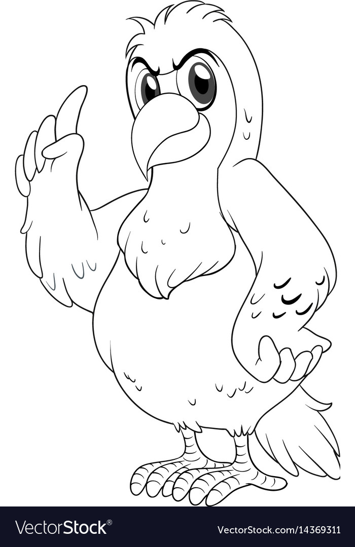 Animal Outline For Parrot Royalty Free Vector Image