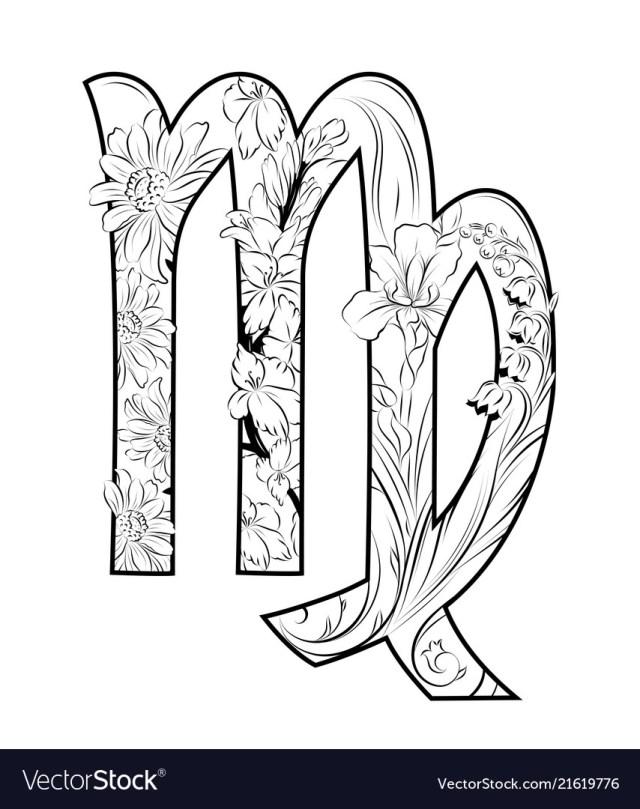 Virgo horoscope sign Royalty Free Vector Image