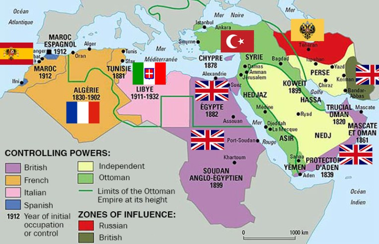 40 maps that explain the Middle East What the Middle East looked like in 1914
