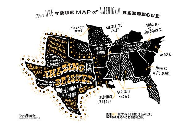 BBQ Regional Map