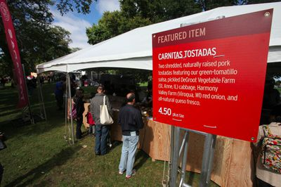 Signage at Chipotle's Cultivate festival heralds