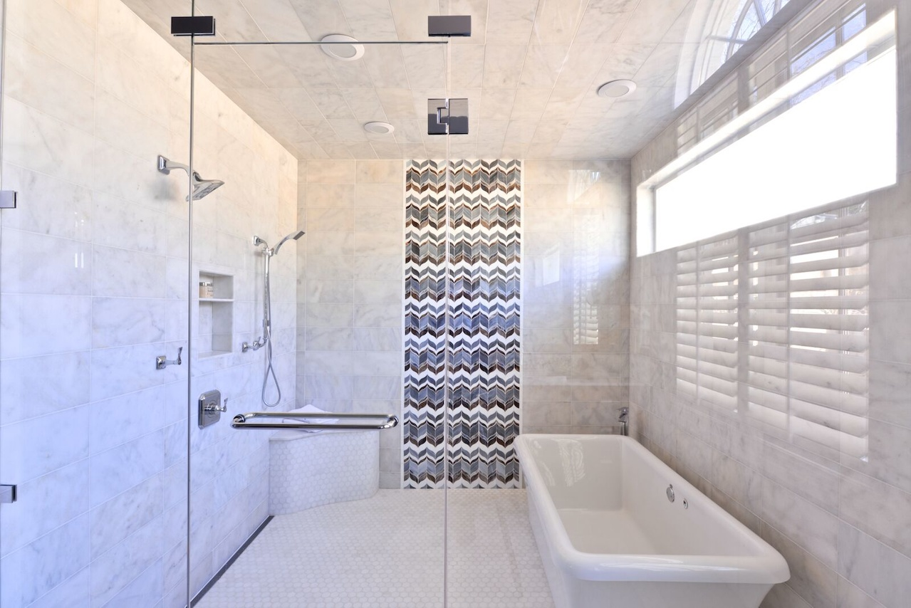 Finally! A Design Pro Explains Transitional Interior Design on Wet Room With Freestanding Tub  id=66826