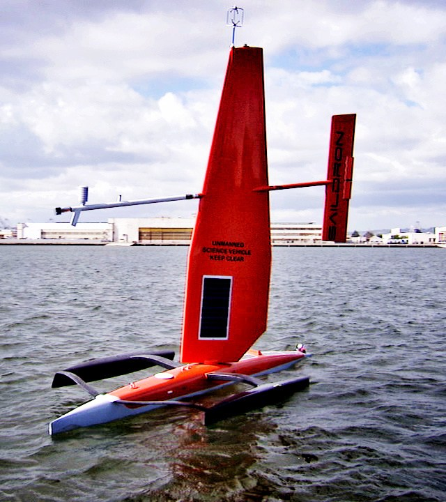 A Saildrone being prepped for launch. Image-NOAA Fisheries