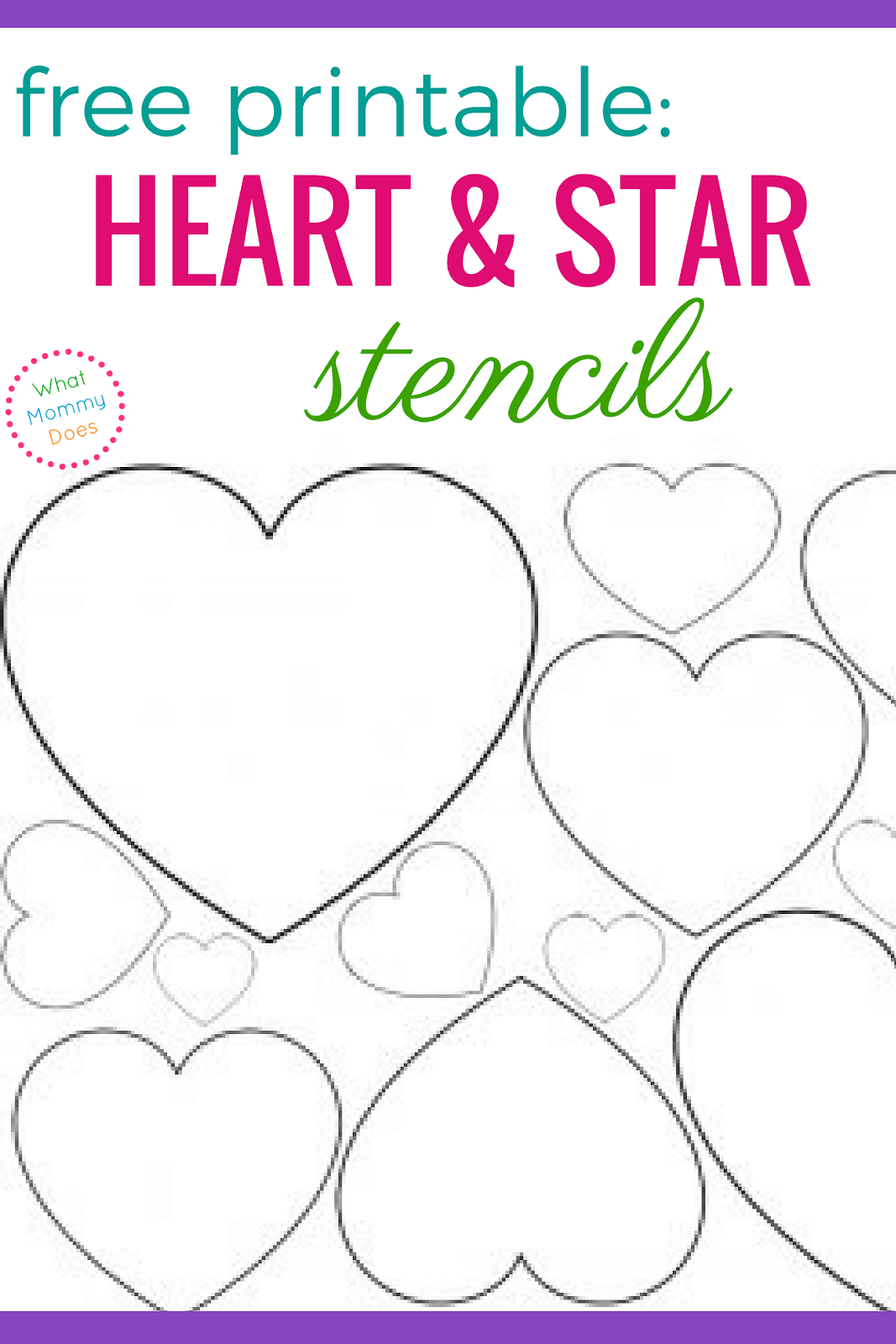 Free Printable Heart Stencils Amp Star Templates